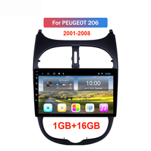 2 din Car Radio Android GPS Navigation WIFI Bluetooth FM Car Multimedia Player For Peugeot 206 2000 -2016 carrvas 2 din car multimedia player android 8 1 built in rds 7 inch hd touch screen gps navigation wifi bluetooth am fm iso
