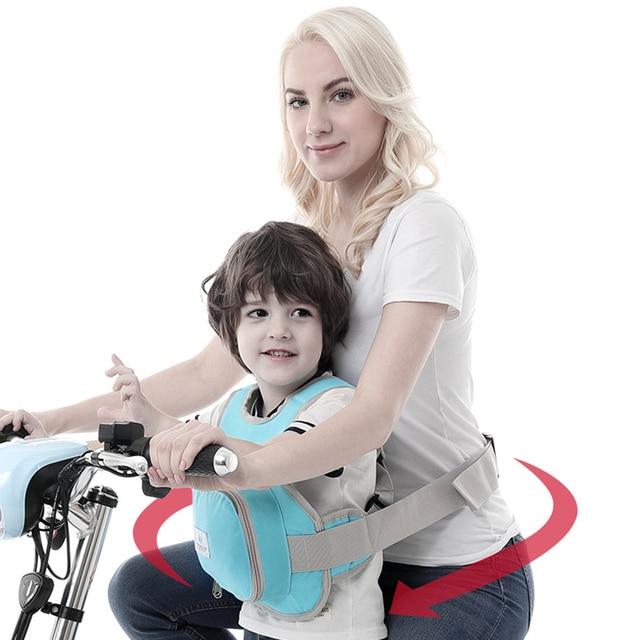 Motorcycle Children Safety Belt Anti-fall Straps Back Hold Protector Reflect Vest Belt Adjustable Kids Vehicle Safe Harness Se24 2