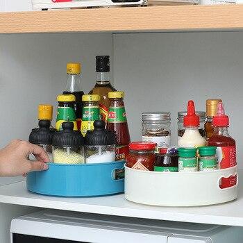Кухонный поднос с вращением на 360 градусов, контейнер для хранения специй, банка для еды, лоток для закусок, нескользящая высушенная тарелка ...
