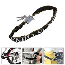 1pc Heavy Duty Bike Chain Lock Outdoor Bike Protector Cycling Chain Lock Safe Anti-Theft Bicycle Chain Lock For Motorcycle Lock bike lock chain wire lock anti theft chain lock for bicycle cycling locks steel cable electric bicycle equipment security lock