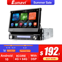 Eunavi 1 Din Android10 Car DVD multimedia radio Player GPS For Universal GPS Navigation AUTO Radio Stereo WIFI MP3 Audio USB SWC