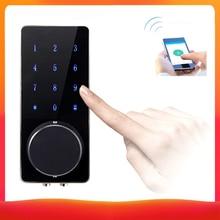 Cerradura de puerta Digital inteligente BT sin llave táctil contraseña Control de aplicación cerrojo de seguridad cerradura de puerta electrónica cerradura de puerta