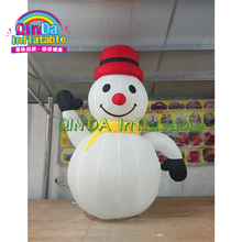 Commercial outdoor inflatable snowman cheap snowman for christmas yard decoration lighting inflatable shiny snowman for christmas decoration
