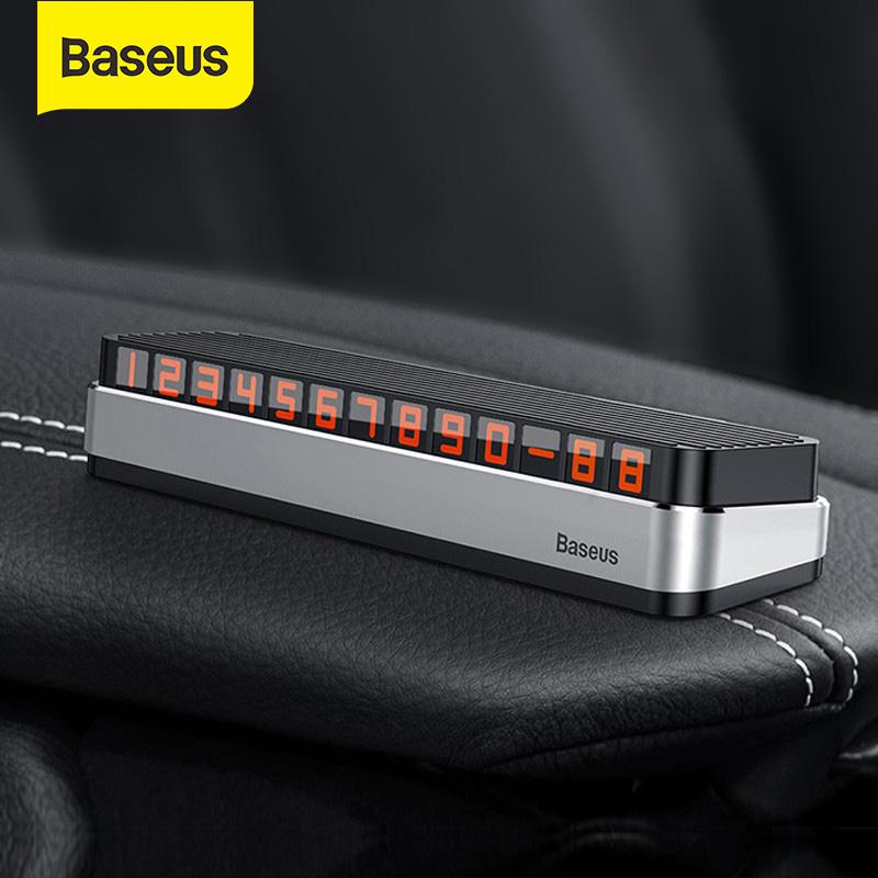 Baseus Car Styling Car Temporary Parking Card Phone Holder Rotatable Magnetic Adsorption Parking Card Telephone Number Plate