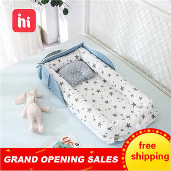 Tragbare Baby Nest Bett für Jungen Mädchen Reise Bett Infant Baumwolle Wiege Krippe Baby Stubenwagen Neugeborenen Bett