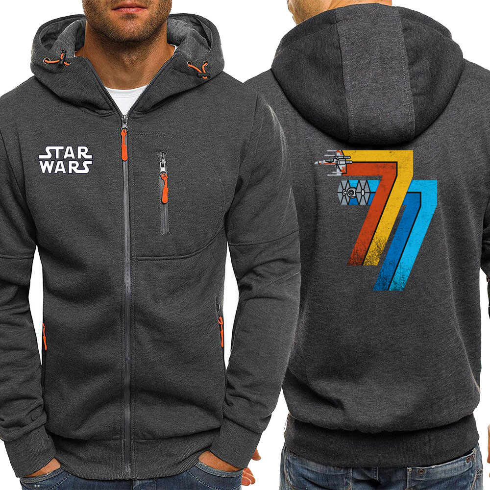 Hot Sale 2019 Autumn Hooded Men Streetwear May 25th 1977 Star Wars Jackets Zipper Casual Coat Fleece Sportswear Fashion Hoodie