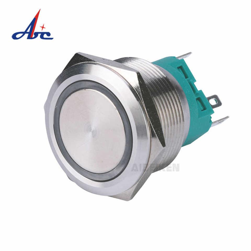 28 มม.ปุ่ม LED กันน้ำส่องสว่างแบนรถเรือ DIY illuminated power Momentary
