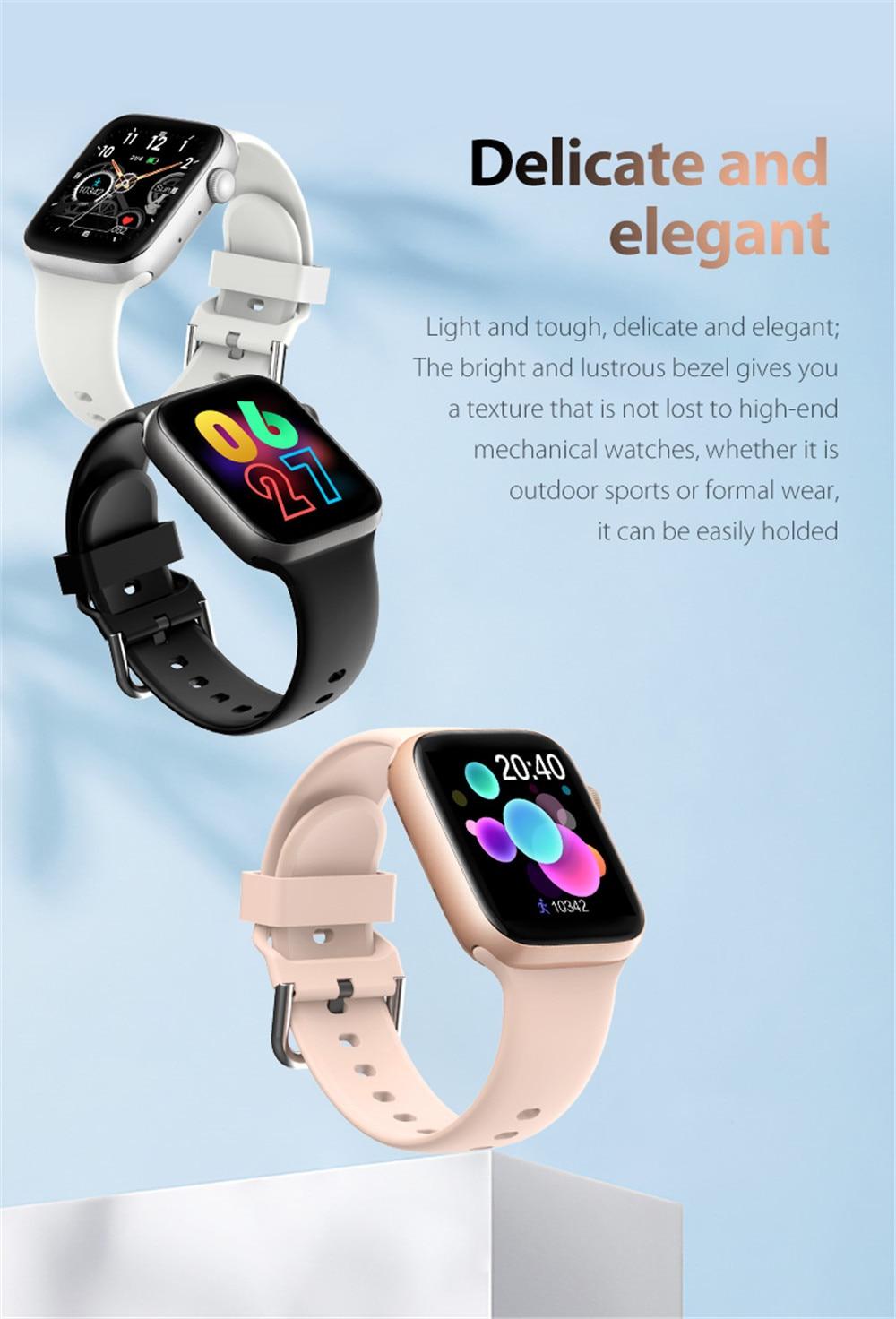 H1a600c377f7246a6a56a167b20107a1ey Smart Watch Men Smartwatch Women Dial Call Watch Waterproof Fitness Tracker Music Control 2021 For Iphone Xiaomi Huawei IWO+gift