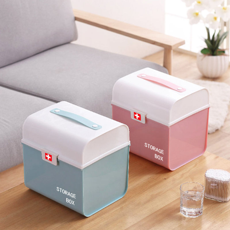 Multifunctional Plastic Large-Capacity Multi-Layer Storage Portable Household Portable Medicine Box For Children