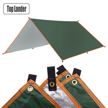 4 × 3m 3x3mオーニング防水タープテントシェード超軽量庭キャノピーサンシェード屋外キャンプハンモック雨フライビーチサンシェルター