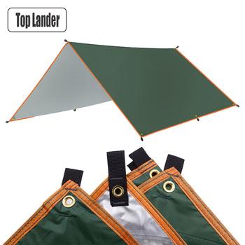4x3m 3x3m markiza wodoodporna plandeka namiot cień Ultralight ogród baldachim parasolka na zewnątrz hamak kempingowy deszcz latać plaża słońce schronienie tanie i dobre opinie Top Lander 3000mm Budowa w oparciu o potrzeby Namiot dla 3-4 osób sunshade beach