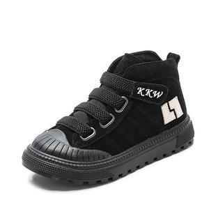 Image 2 - 2019 çocuk botları erkek spor ayakkabı kış yeni peluş sıcak kızlar çizmeler moda çocuk Martin çizmeler hakiki deri okul ayakkabısı