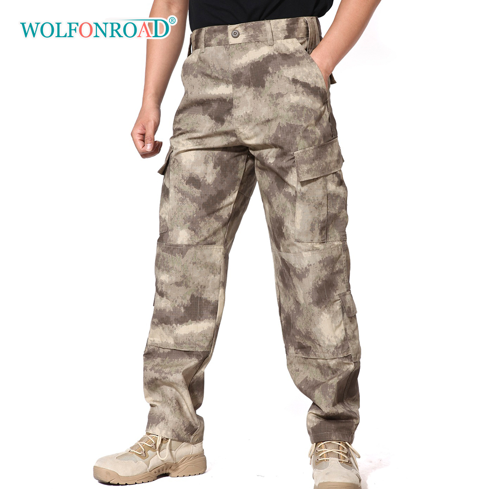 WOLFONROAD Tactical Combat Hunting Camouflage Pants Men's Airsoft Shooting Military Army Pants Workout Training Trousers Male