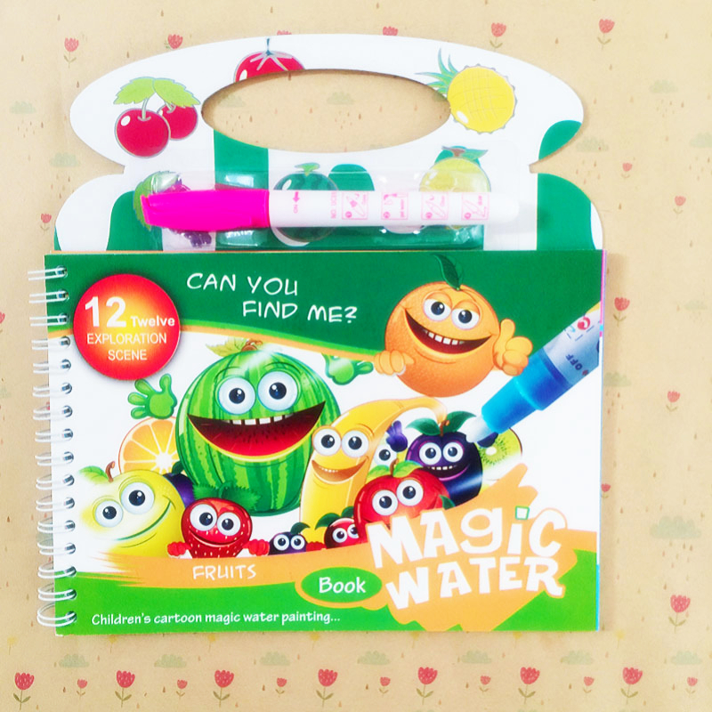 Magic Water Drawing Book Coloring Book Doodle & Magic Pen Painting Drawing Board For Kids Educational Puzzle Toys Birthday Gift