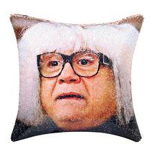 Danny DeVito Sequin Pillow…