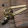 Messing Anti verlust Auto Lizenz Platte Telefon Keychain Schriftzug Anhänger Anhänger Feine Kupfer Handy Anzahl Platte Kreis Ring cha-in Schlüsseletui für Auto aus Kraftfahrzeuge und Motorräder bei