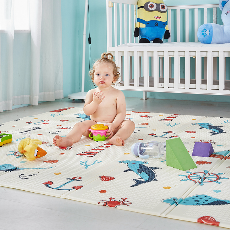 XPE Baby Crawling Play Mat Children Foldable Cartoon Rug Mat Baby Games Mats Kids Climbing Pad Folding Baby Puzzle Games Carpet