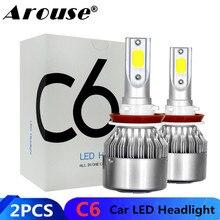 2 pièces H11 H7 H1 H3 LED voiture COB ampoules de phare H4 Hi Lo faisceau 72W 8000LM 6500K Auto phare 9005 9006 Led voiture lumière antibrouillard