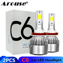 2PCS H11 H7 H1 H3 COB Car LED Headlamp Bulbs H4 Hi Lo Beam 72W 8000LM 6500K Auto Headlight 9005 9006 Led Car Light Fog Lights