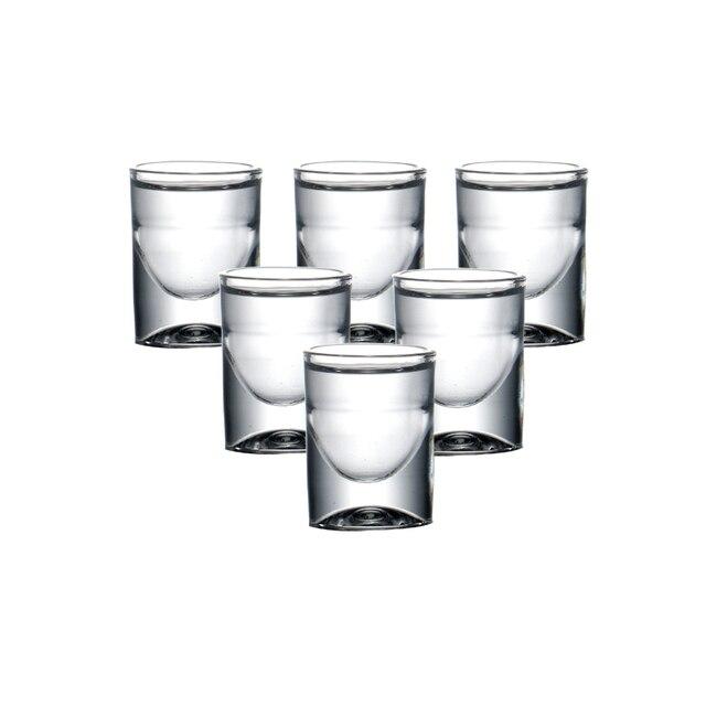 Ensemble de 6 verres de verre, sans plomb, verre, liqueur, pour cadeau de noël, vodka, boissons spiritueuses, Baijiu chinois, whisky, 15ml