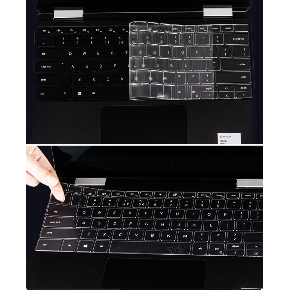 A Grade Soft TPU Keyboard Clear Cover New 2020 for Dell XPS 13 9300 13.4 9365 9360 13.3 Inch 15.6 15 7590 <font><b>9570</b></font> Skin Silicone image