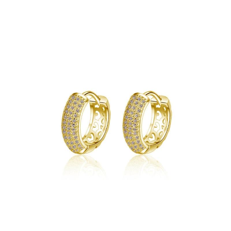 Fashion Womens 2 Color Round Hoop Earrings High Quality Girl CZ Zircon Elegant Enchanting Drop Earrings Jewelry Gifts 2020