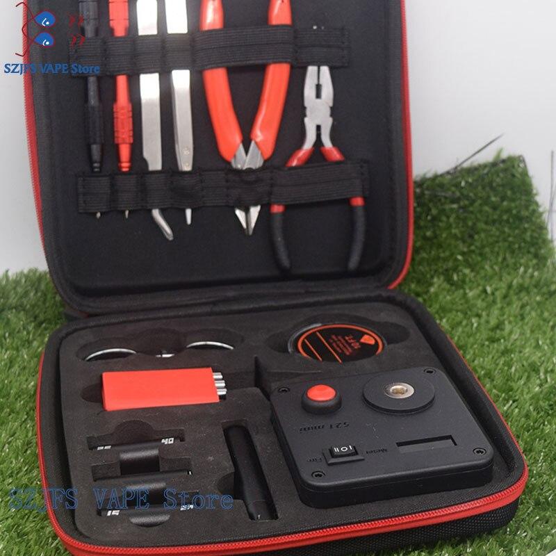 Mise à jour sous deux bobines Master V3 kit de bricolage AllinOne CoilMaster V3 + Cigarette électronique RDA tomizer bobine outil sac accessoires Vape