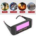 Защитная маска  автоматические очки для глаз  солнечные очки  Толщина 6 мм  объектив  сварочный фотоэлектрический шлем для строительных свар...