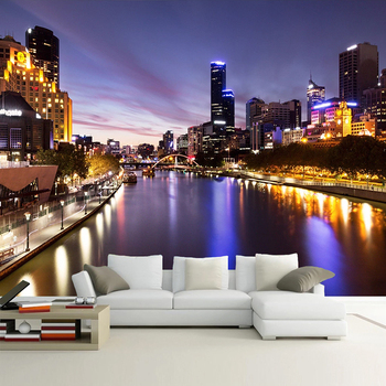 Custom Mural Wallpaper Modern City Night View Photography Art Murals Restaurant Living Room Sofa TV Background Photo Wall Paper custom 3d wall murals wallpaper modern art mural living room bedroom restaurant wall decoration wolf photo wall paper painting