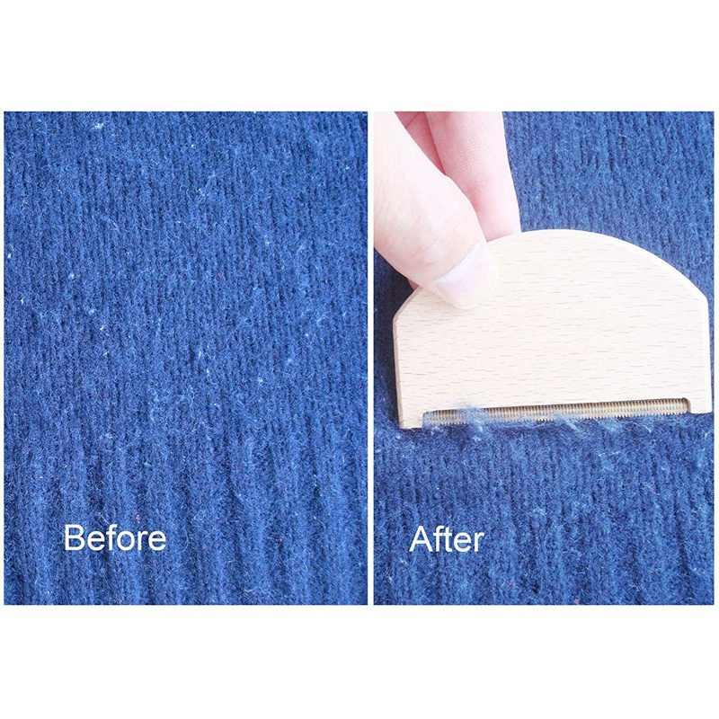 ブナ材カシミヤ櫛セーターシェーバー真鍮ピリングくしコンボ削除丸薬、ファズや糸くず羊毛ブラシ、パックの 6 個
