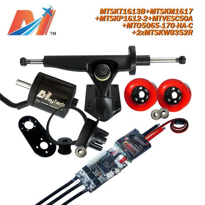 Maytech для электронной платы 5065 170KV Высокая мощность двигателя и 12s esc и quad скейт колеса шкив и грузовики