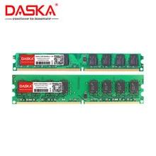 DASKA 4G 4GB (2GB X 2 adet) DDR2 pc2 6400 800Mhz masaüstü bilgisayar pc2-6400 ddr2 667 MHZ (intel amd) yüksek uyumlu