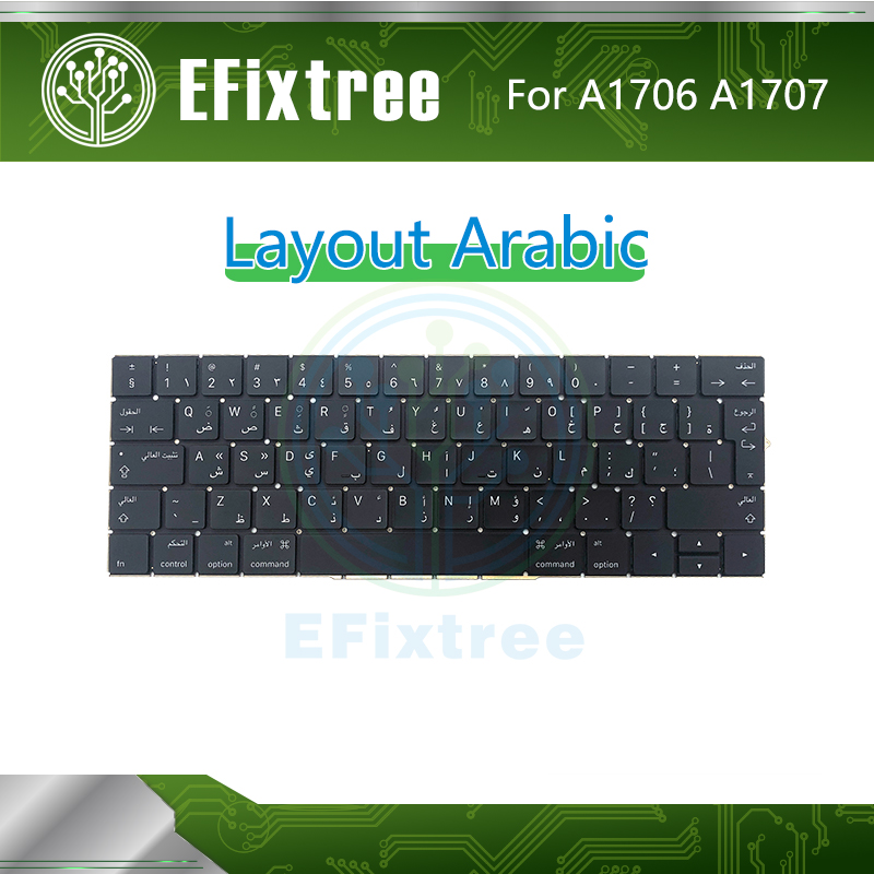 Original New A1706 Keyboard Arabi With Backlight 2016 2017 For Macbook Pro Retina 13 15'' A1707 Layout EMC 3162 3163 3071 3072 image