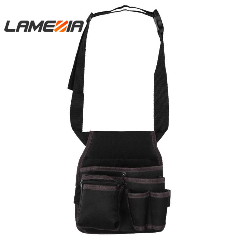 LAMEZIA Oxford Cloth Belt ToolBag Pouch Waist Pocket Outdoor Work Hand Toolkit Hardware Storage Electrician Gardening Three-tier