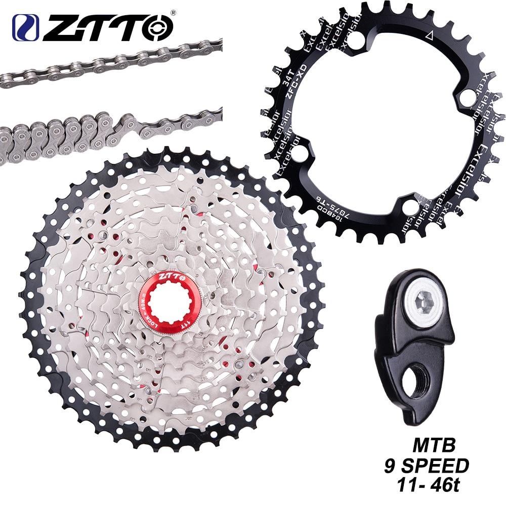 ZTTO MTB 9 Speed 11 46T Cassette 9s 46t 9v k7 Freewheel 9s SPROCKET 9S 42T chain shifter Crown for M430 M4000 M590 Mountain Bike