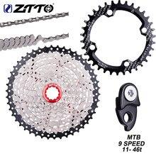 ZTTO-Cassette de 9 velocidades para bicicleta de montaña, rueda libre 9 s, 46T, 9v, k7, Piñón 9 s, 42t, corona de cambio de cadena para M430, M4000, M590, 11-46T