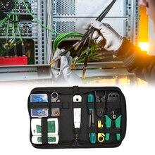 Lan-Network-Repair-Tool-Kit Crimping-Pliers Lan-Tester 14pcs/Set AND RJ45 Portable