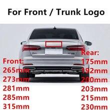 3d abs 4 anel estilo do carro acessórios para audi cabeça capô dianteiro traseiro cauda tronco boot marca emblema logotipo adesivo