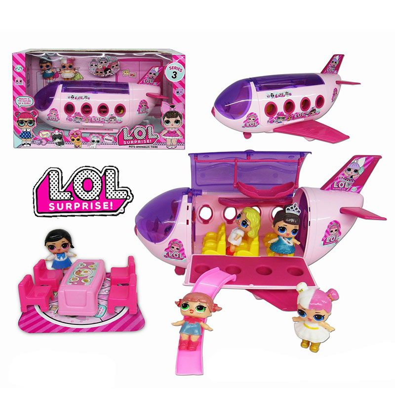 Lol Surprise Dolls Original LoL Dolls Surprise Airplane Picnic Car Toys Action Model Collection DIY Birthday Gifts For Girl