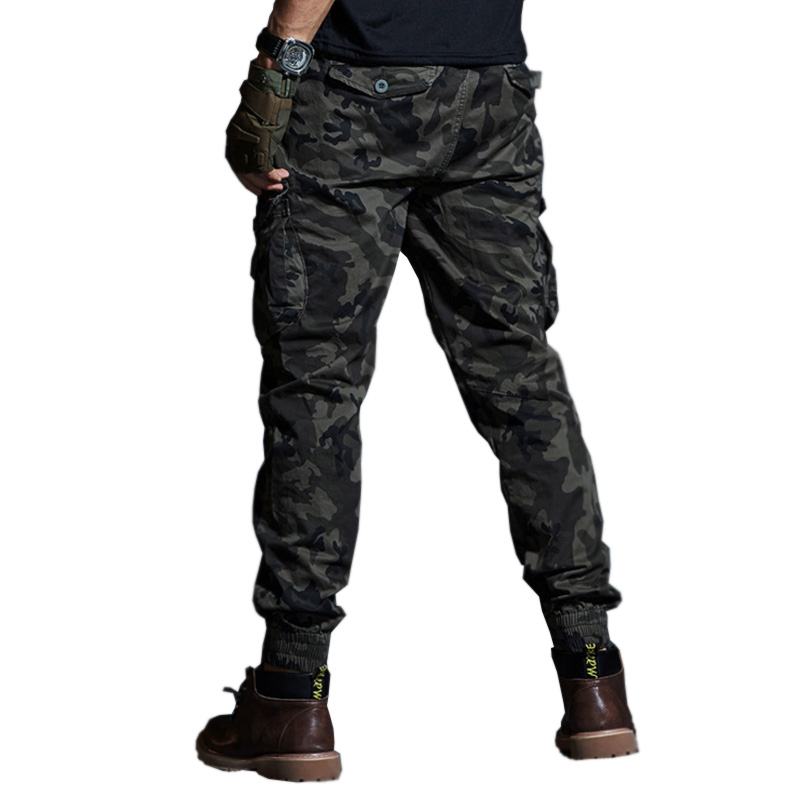 High Quality Khaki Casual Pants Men Military Tactical Joggers Camouflage Cargo Pants Multi-Pocket Fashions Black Army Trousers 5