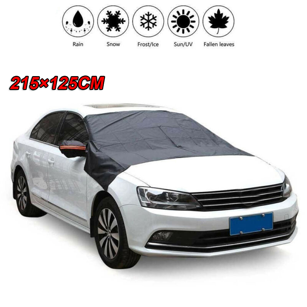 auto 215*125CM/245*145CM Car Windshield Cover Sun Shade Winter Snow Ice Rain Dust Frost Guard Protector 2019 210T Silver Cloth|Car Covers| |  - title=