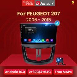 Junsun V1 pro 2G+128G Android 10 For PEUGEOT 207 2006 - 2015 Car Radio Multimedia Video Player Navigation GPS 2 din dvd