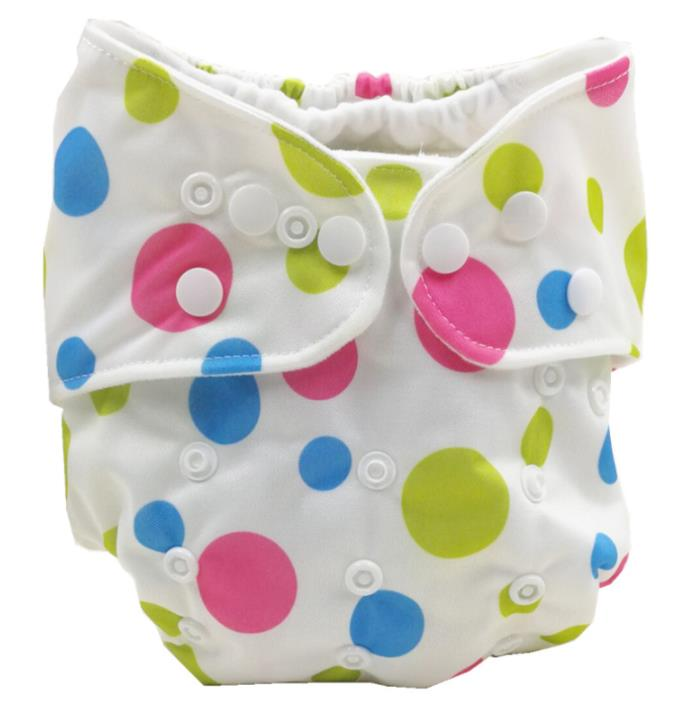 Baby Diaper Washable Reusable Real Cloth Nappy Diaper Cover Wrap Suits Birth To Potty One Size Nappy Inserts