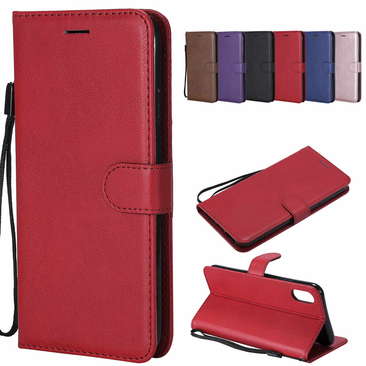 Leather Flip Case Voor Iphone 11 Pro Max X Xr Xs Max Case Wallet Card Slot Telefoon Cover Voor Iphone 5 5S 6 6S 7 8 Plus Case