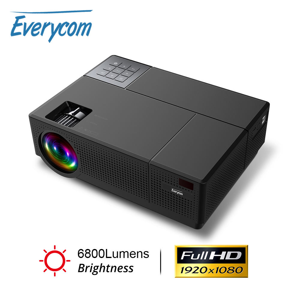 Everycom M9 CL770 Native 1080P Full HD 4K Projector LED Multimedia System Beamer 6800 Lumens HDMI 2 Auto Keystone Home Cinema