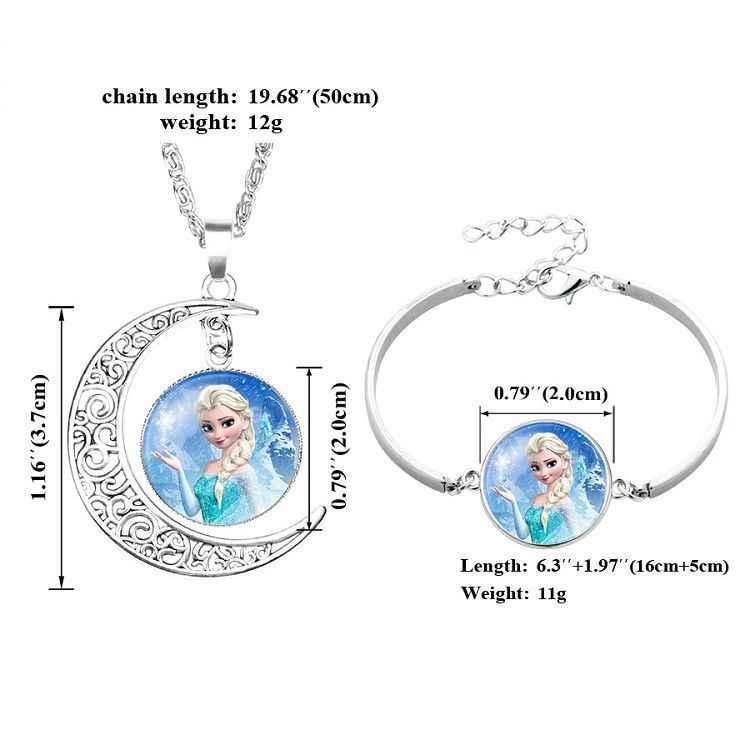 2019 disney boneca bebê meninas jóias colar anna e elsa crianças contas acessórios princesa rainha da neve pingente brinquedos presente
