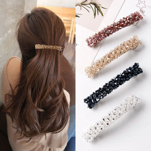 Doce cor de cristal primavera grampos de cabelo pinos grânulos feitos à mão barrettes de cabelo para mulheres menina moda simples acessórios de cabelo headwear