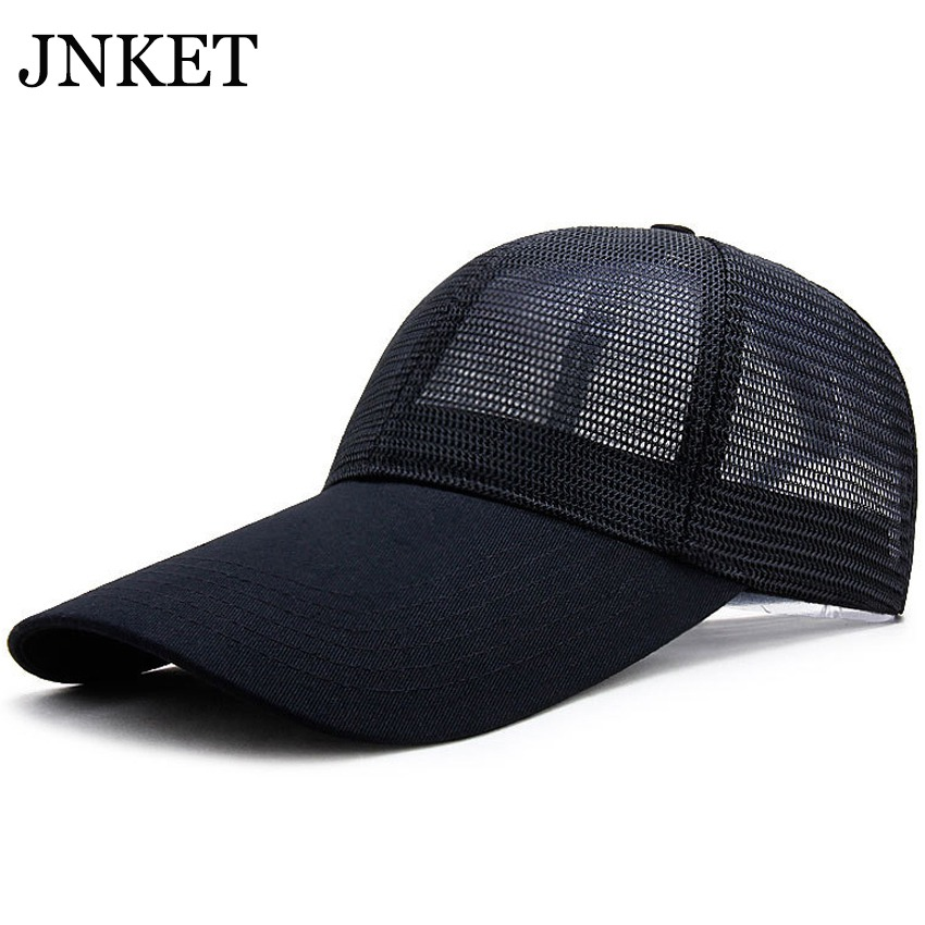 JNKET New Unisex Long Visor Mesh Baseball Cap Sun Hat  Breathable Baseball Hats Summer Hat Adjustable Snapback Hat Gorras