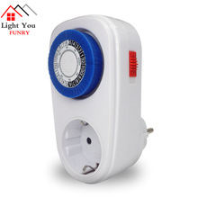 German Standard Mechanical Timing Socket Household Smart Countdown Switch Socket Energy Saving Socket ts 4000 multi function thermostat timer switch socket with sensor probe energy saving mechanical timer socket timing switch hot