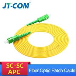 10 pces sc/apc cabo de remendo da fibra ótica sm SC-SC 3.0mm 3m jumper único modo simples 3mm fibra óptica optica ftth 9/125um pvc